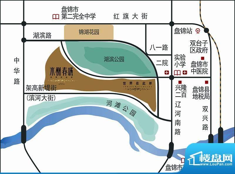 天力水榭春城交通图
