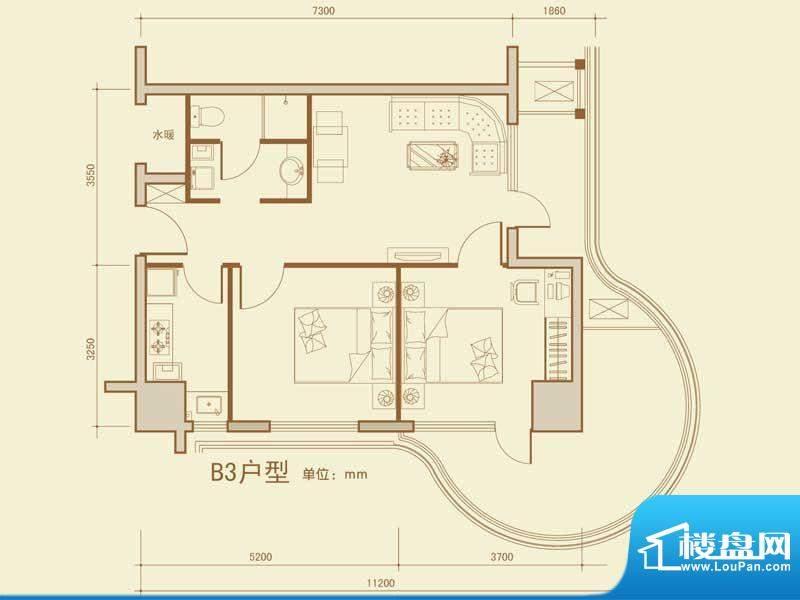 大商城市广场211-86面积:86.34m平米