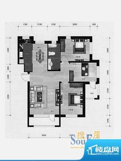林海景天林香墅 3室面积:100.00m平米