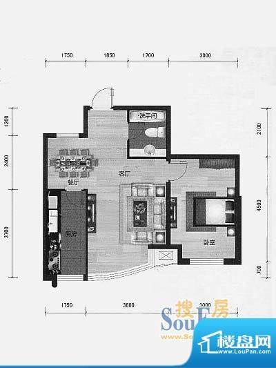 林海景天林丰苑2 1室面积:66.00m平米