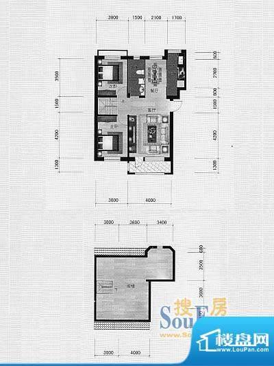 林海景天林香墅4 2室面积:0.00m平米