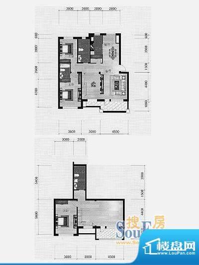 林海景天林香墅6 3室面积:198.00m平米