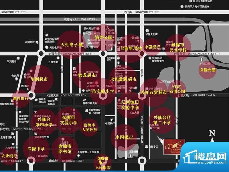 东方银座·中心城交通图