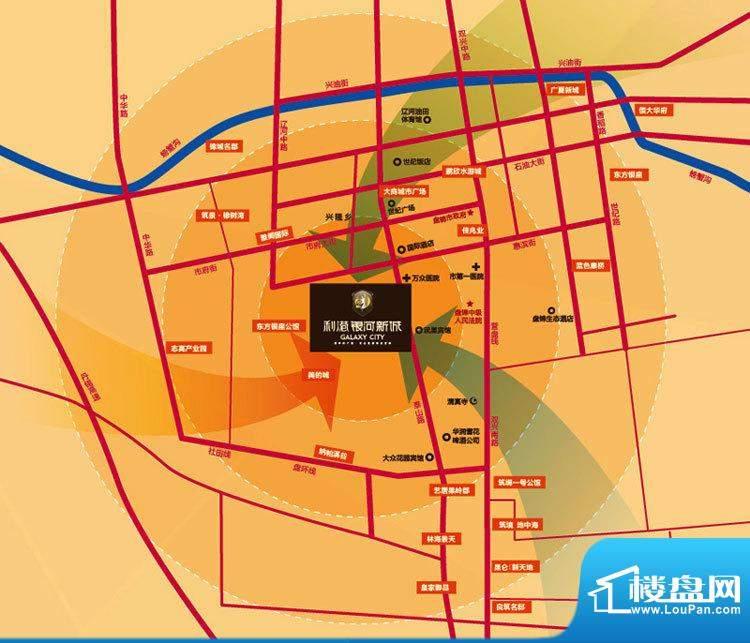 利港银河新城交通图