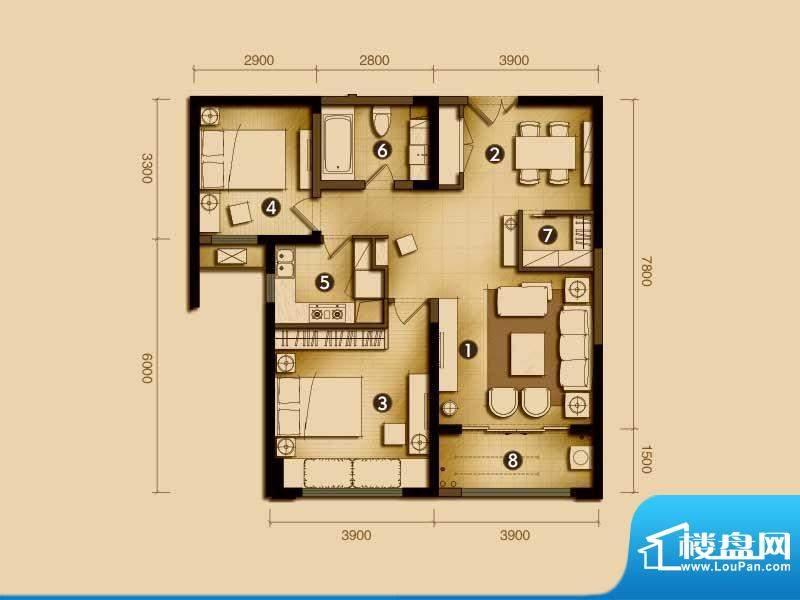 利港银河新城户型单面积:0.00m平米