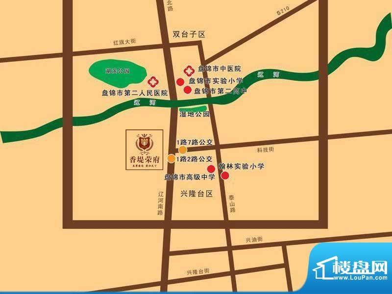 荣盛·香堤荣府交通图