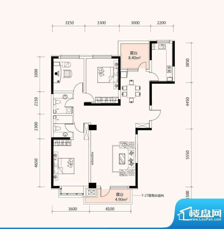 长湖新城135.91平 3面积:135.91m平米