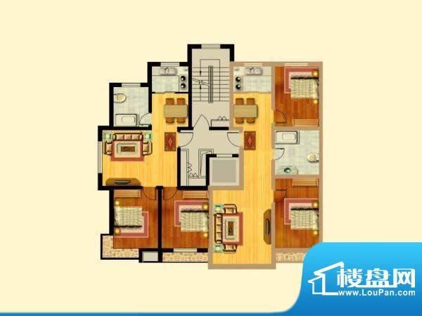 富寓华城户型图-1 面积:0.00m平米