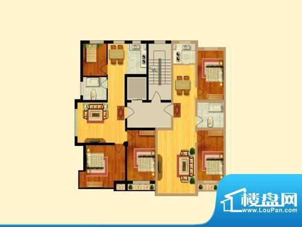 富寓华城户型图-2 面积:0.00m平米