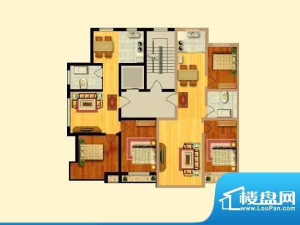 富寓华城户型图-3 面积:0.00m平米