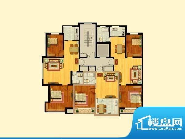 富寓华城户型图-4 面积:0.00m平米