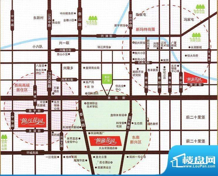 锦富花园交通图