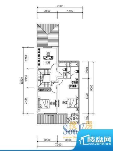 恒泰·尚城联排别墅面积:77.90m平米