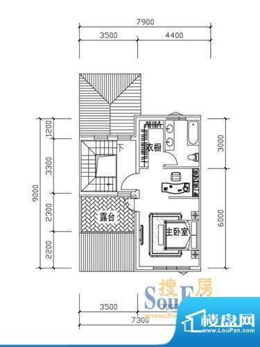 恒泰·尚城联排别墅面积:49.80m平米