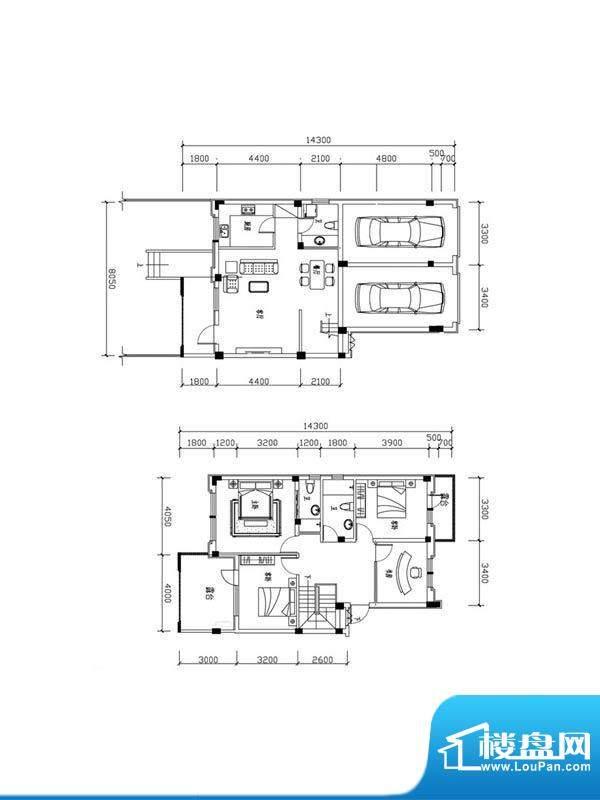 恒泰·尚城叠拼别墅面积:166.50m平米