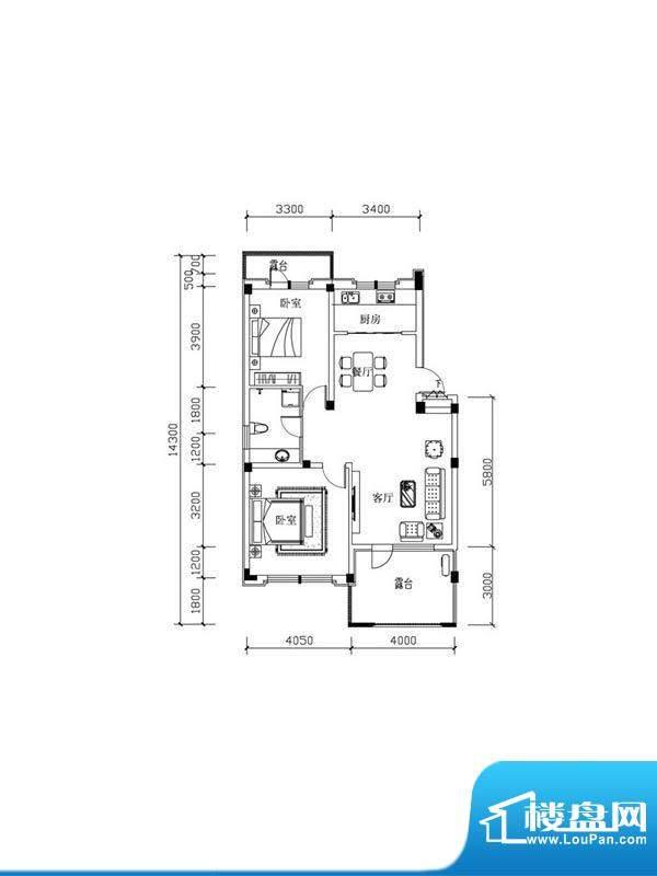 恒泰·尚城叠拼别墅面积:91.30m平米