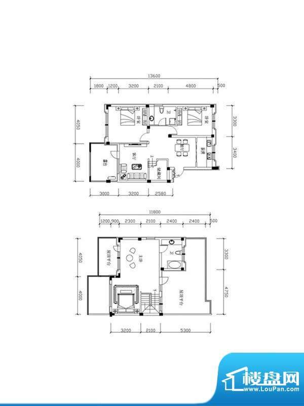 恒泰·尚城叠拼别墅面积:162.70m平米
