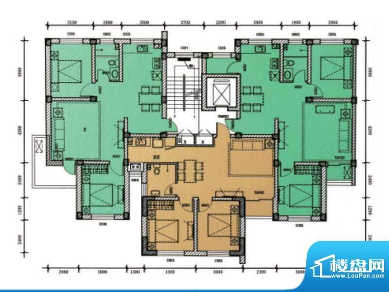 滨海公寓滨海户型4 面积:0.00m平米