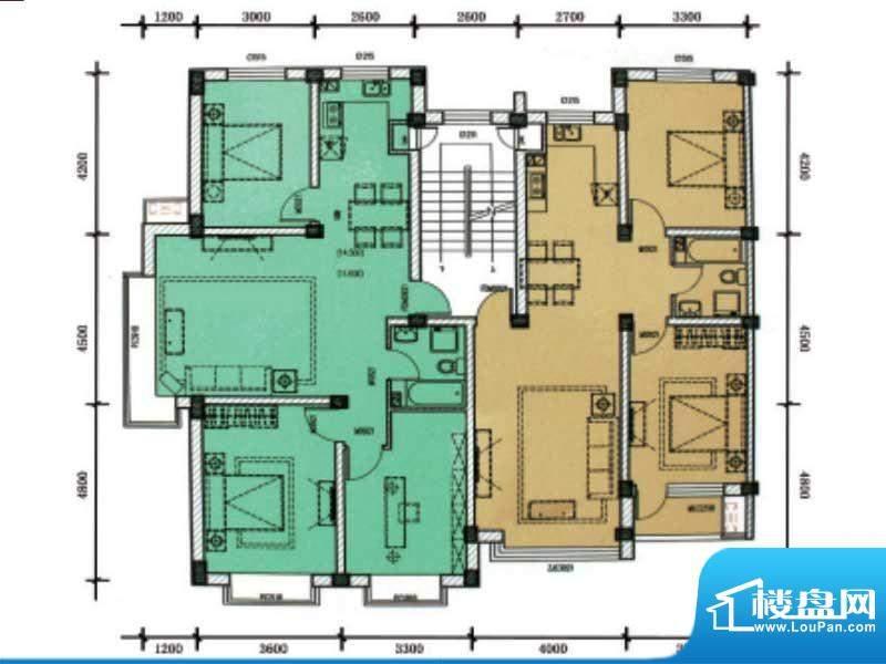 滨海公寓滨海户型1 面积:0.00m平米
