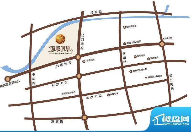 锦城明郡别墅交通图