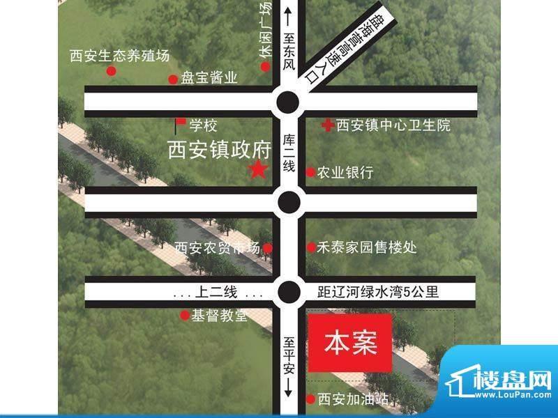 禾泰嘉园交通图