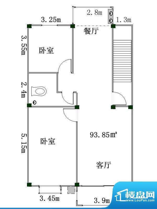 盛業豪庭1#、2#、3#面积:93.85m平米