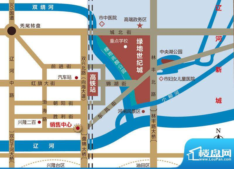 绿地世纪城交通图