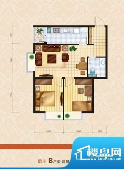 炫特区77.20 2室1厅面积:77.20m平米