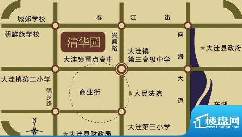 源隆·清华园交通图