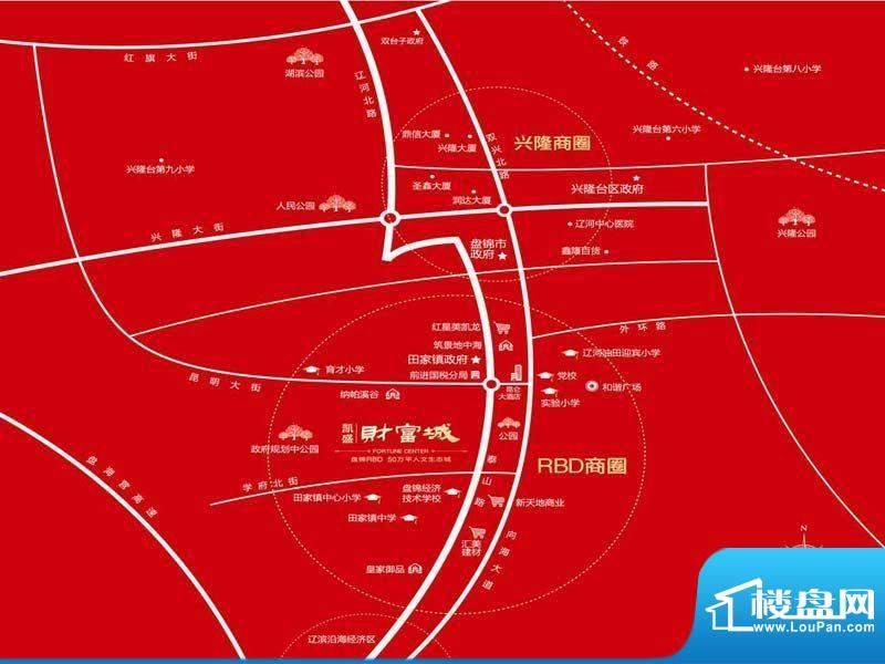凯盛财富城交通图