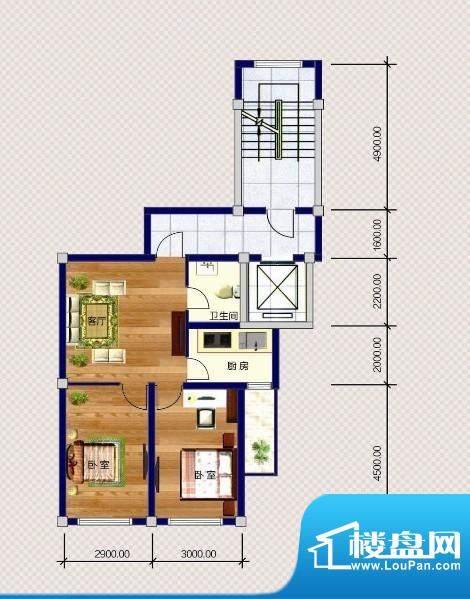 金瑞尚品Z户型 2室1面积:65.00m平米