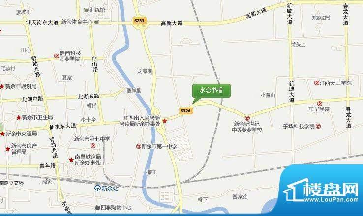 水恋书香交通图