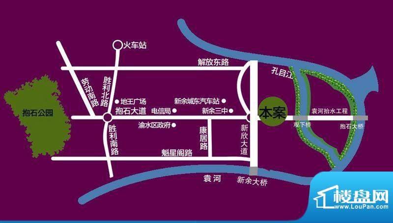 格林公馆交通图