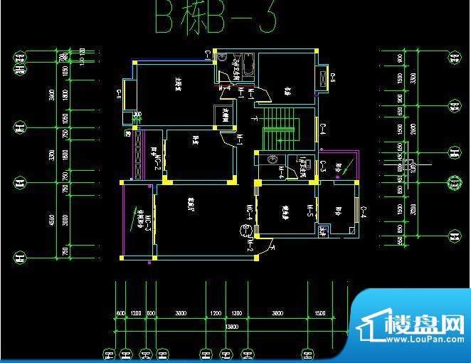 欣欣百合苑B栋B-3户面积:0.00m平米