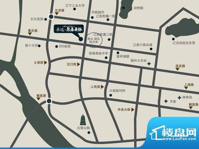 卓远·聚基华脉交通图