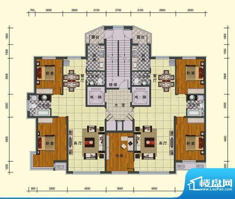 东湖国际六号楼 3室面积:140.43m平米