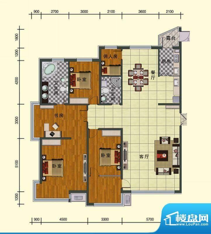 东湖国际五号楼 4室面积:235.98m平米