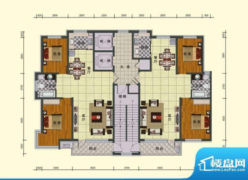 东湖国际一号楼 2室面积:119.88m平米