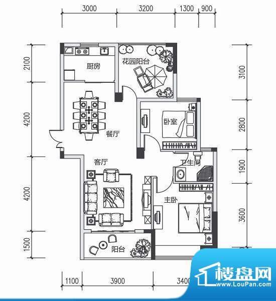 青城中央广场2#楼C户面积:0.00m平米
