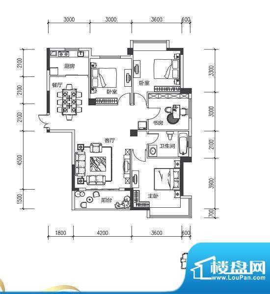 青城中央广场2#楼D户面积:0.00m平米