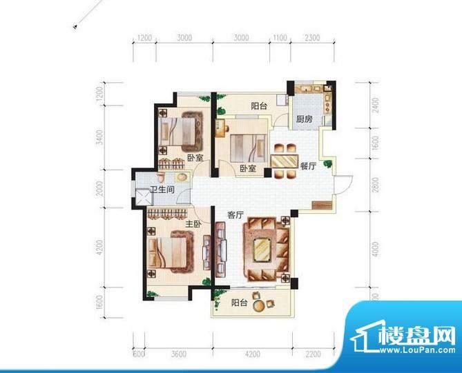 青城中央广场3#楼3A面积:0.00m平米