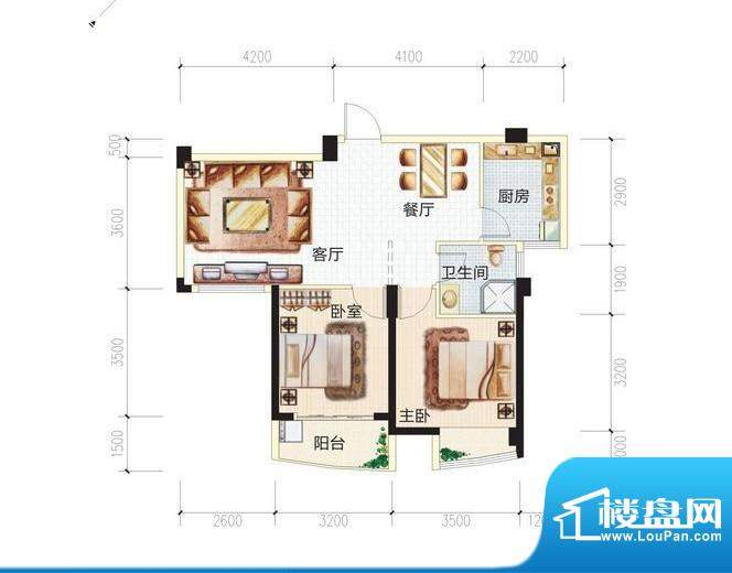 青城中央广场3#楼3B面积:0.00m平米