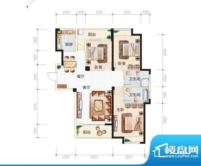青城中央广场3#楼3D面积:0.00m平米