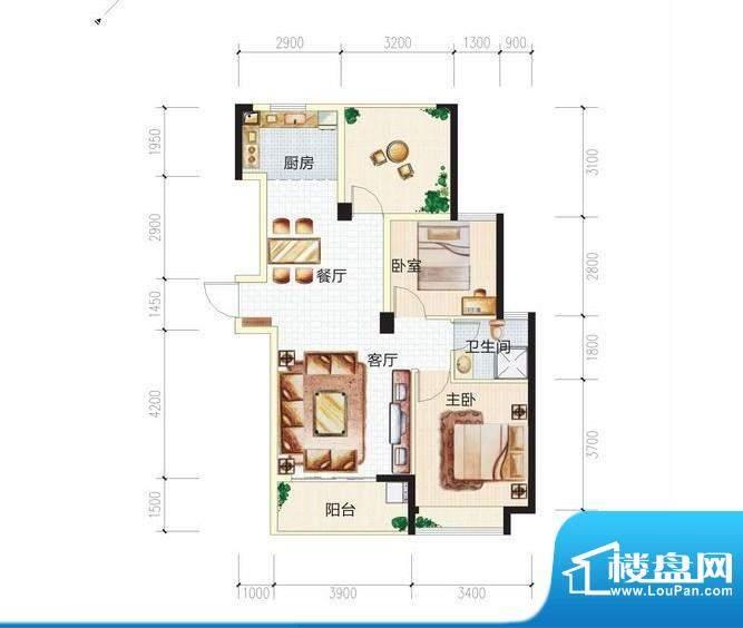 青城中央广场3#楼3C面积:0.00m平米