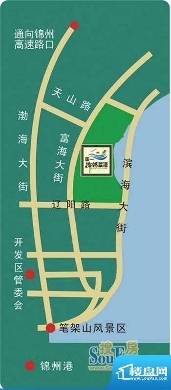 锦绣蓝湾交通图