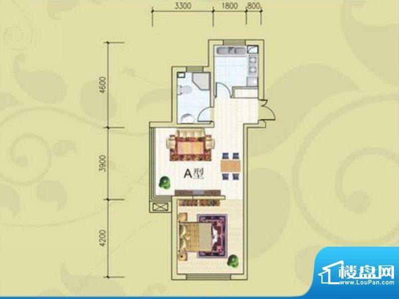 锦绣蓝湾B4/B5号楼A面积:71.74m平米