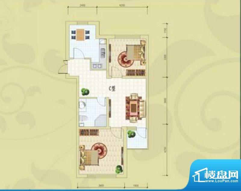 锦绣蓝湾B4/B5号楼C面积:87.87m平米
