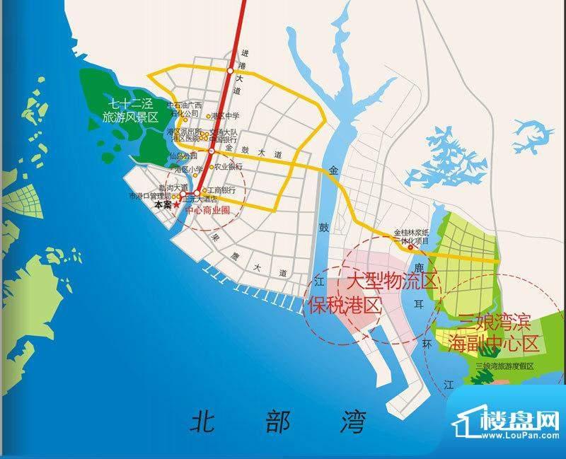 海景1号交通图