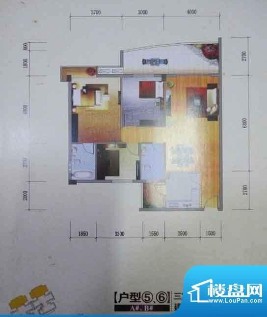 富桂·香江国际3房2面积:0.00m平米