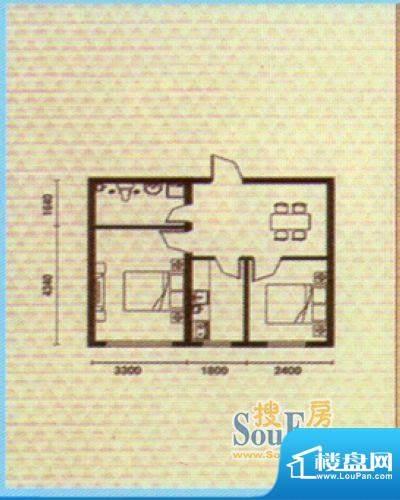 富凯隆达户型图56面积:56.71m平米